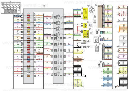 Схема электрическая ВАЗ калина