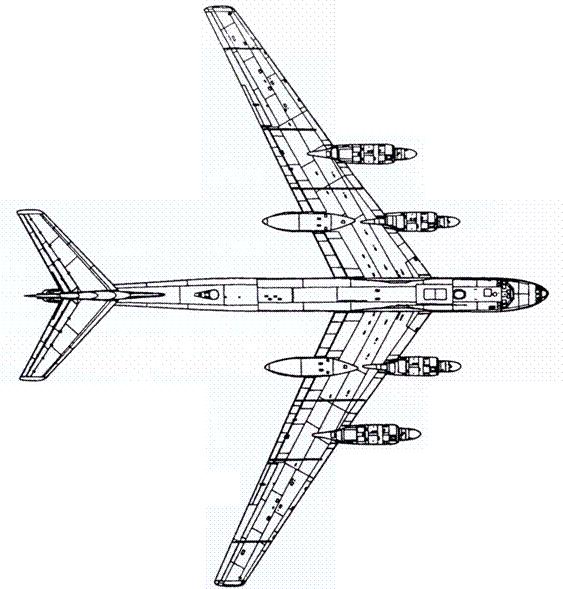Схема серийного Ту-95